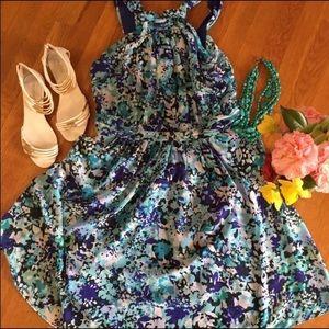New York & Company Floral Print Sun Dress